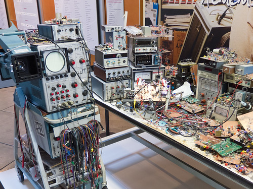 Jim Williams' desk at the Computer History Museum | by mightyohm