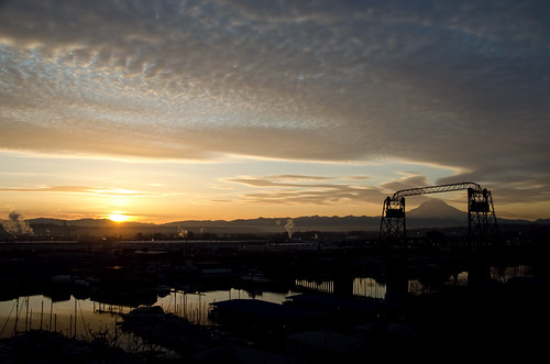 sunrise mountrainier tacoma fosswaterway