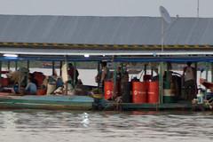 Floating village at Tonle-Sap Lake