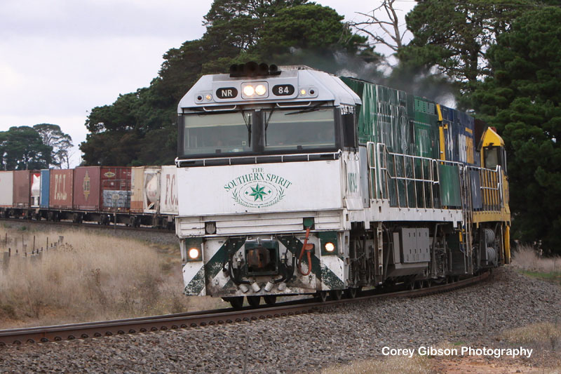 NR84 & NR36 with the BA6 through Maroona by Corey Gibson