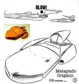 Landspeeder origami diagram 3 | by Matayado-titi