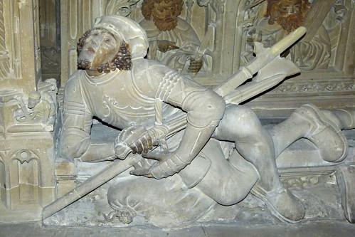 "Reutlingen, Marienkirche, Soldat am ""Heiligen Grab""   by dierk schaefer"