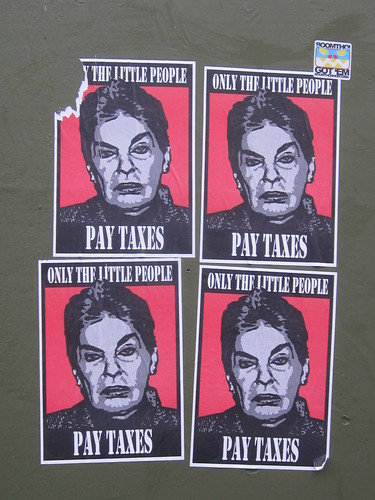 Urban Art: Only the Little People Pay Taxes | Seen in SF ...