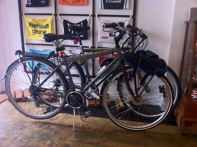 Roland's and my bike at Musette Caffe