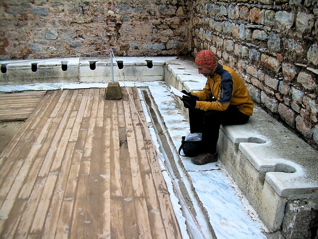 The public toilet at Ephesus; with 200,000 people in the city, this place was probably busy by bryandkeith on flickr