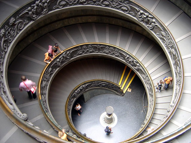 Vatican Museum Spiral Staircase - Rome