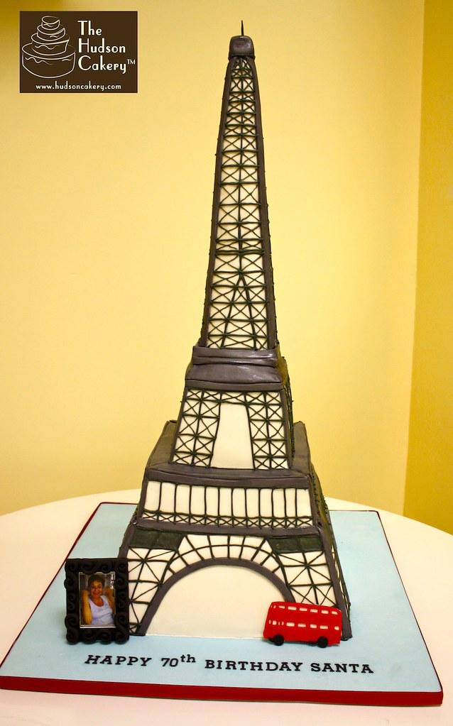 Fantastic Eiffel Tower Birthday Cake 3 Tall Jennifer Flickr Funny Birthday Cards Online Aeocydamsfinfo