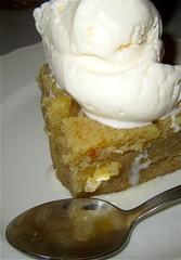 coconut cake ―with ice cream 🍨