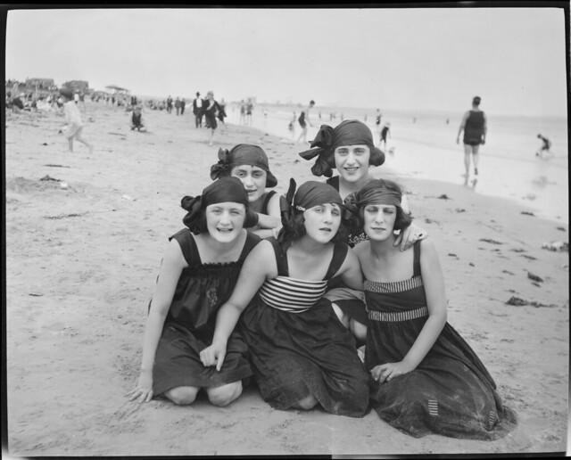 Bathing girls at Revere Beach