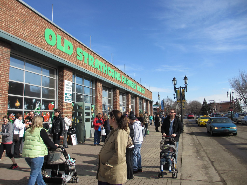 Old Strathcona Farmers' Market in March 2012. Photo by Mack Male.