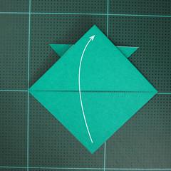 วิธีพับกระดาษเป็นรูปหมวกซามุไร (Origami Samurai Hat) 009