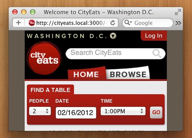 CityEats on HiDPI Safari
