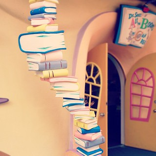 Seuss book tower. | by toomanycommas