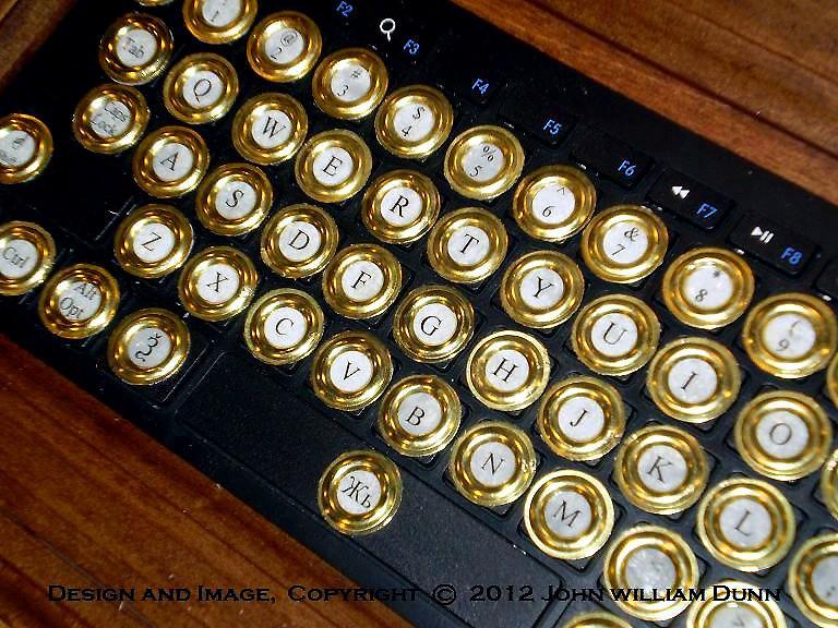 Steampunk Guru Typewriter IPad Keyboard   Steampunk Guru Typ