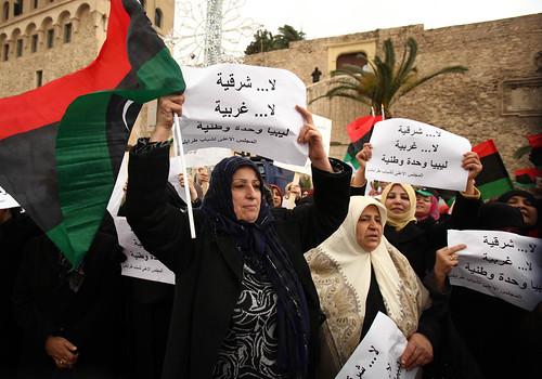 120312 Libya rallies against federalism, division   خروج الليبيين للتنديد بالفيدرالية والتقسيم   La Libye manifeste contre le fédéralisme et la division   by Magharebia
