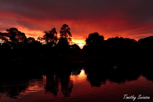 sunset sky clouds reflections fire australia queensland toowoomba timothyswinson kingbobnet