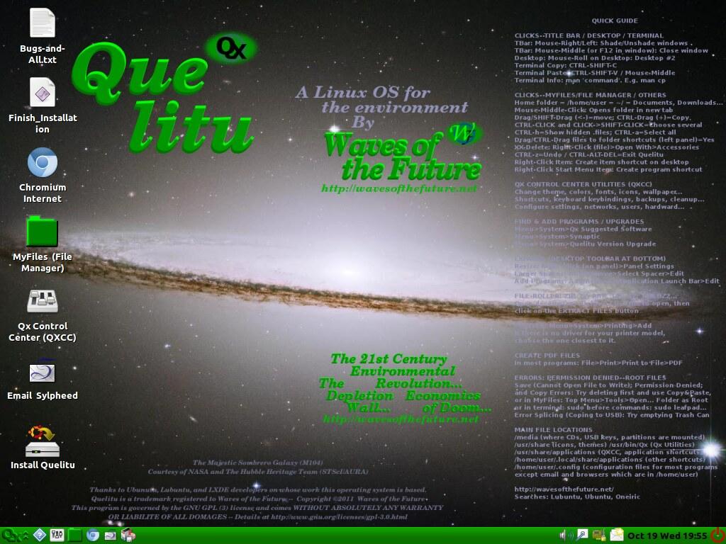 Quelitu -- A User-Friendly Lightweight Linux Computer