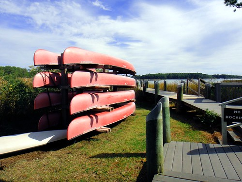 Canoes at Point Lookout State Park, Scotland