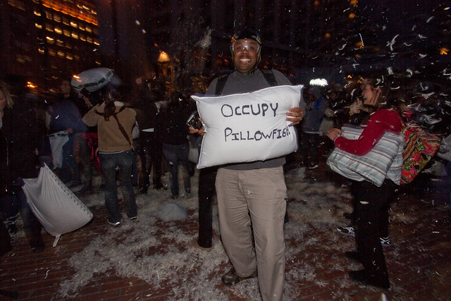 Valentines Day Pillow Fight 2012: occupy pillowfight