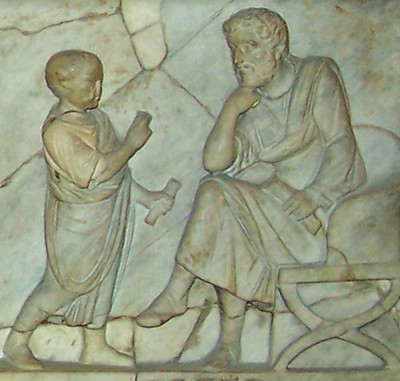 Child reciting poetry/prose to father | by The Classical World