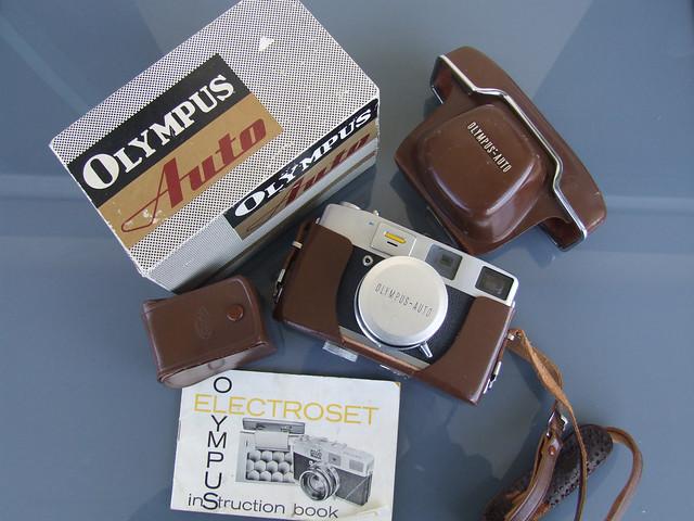 Olympus Auto Electro-set rangefinder camera boxed-7321