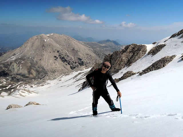 Komutan pretty much smiled all day -- it was his first time using crampons and ice ax, I think by bryandkeith on flickr