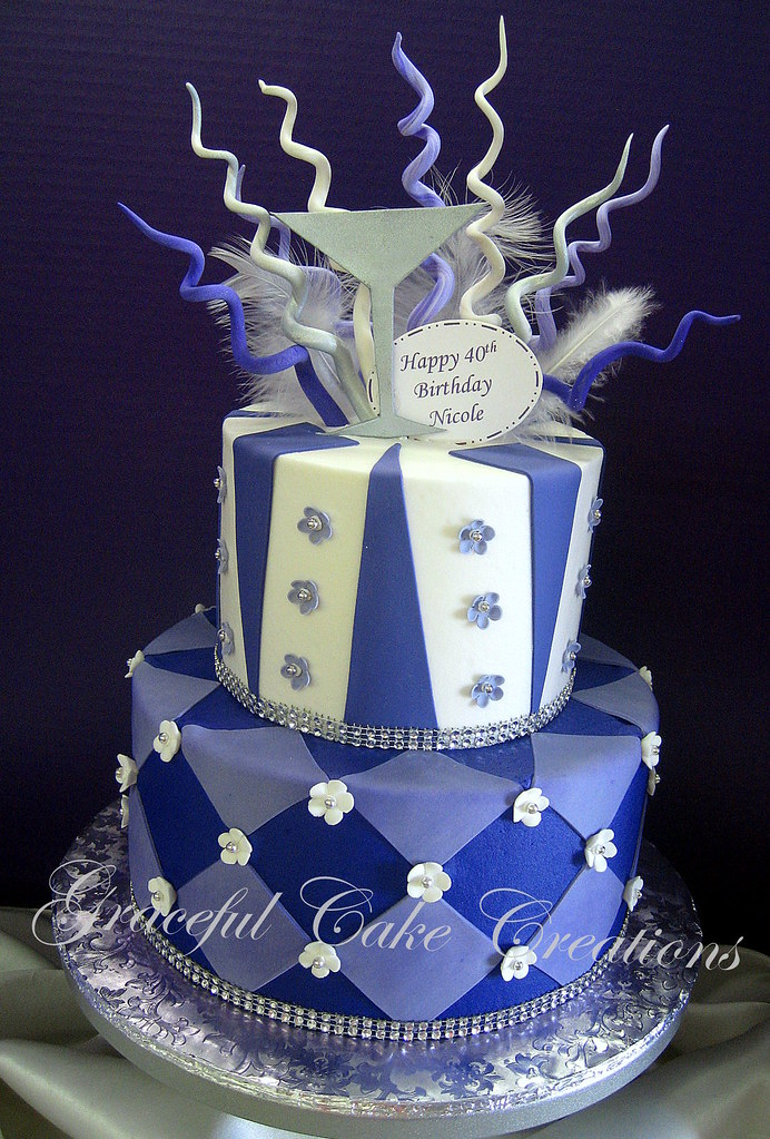 Fabulous Whimsical Purple White And Silver Birthday Cake Grace Tari Flickr Funny Birthday Cards Online Ioscodamsfinfo