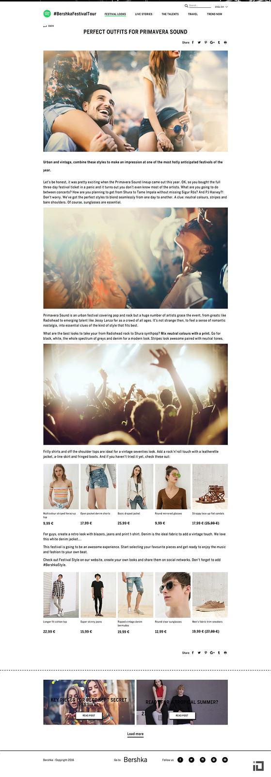 e336b3ecb Bershka Festival Tour & Spotify - Binalogue - Web development