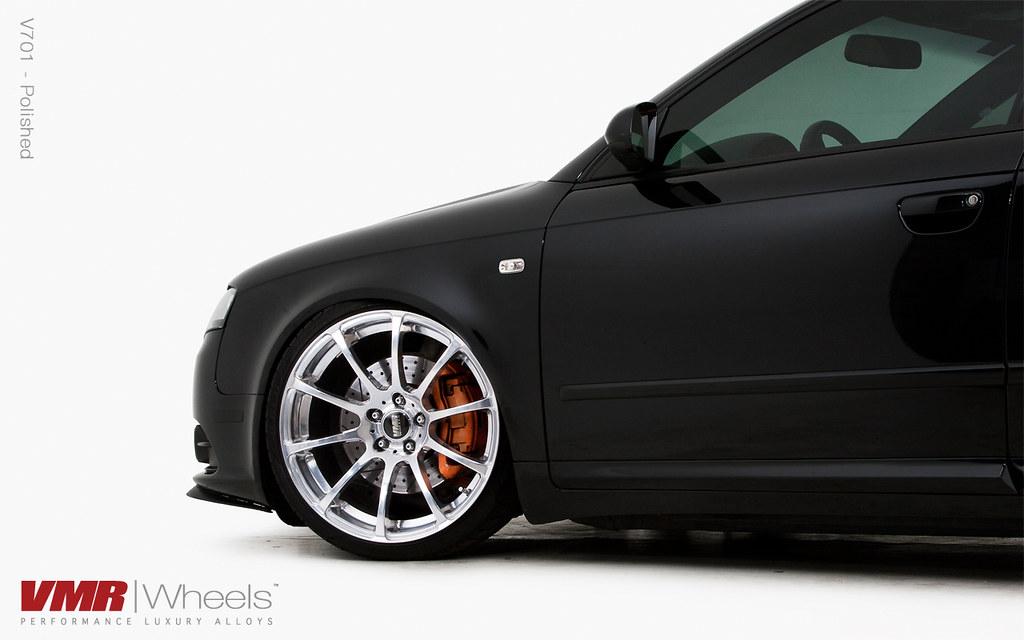 Vmr Wheels 19 Custom Polish V701 On Brilliant Black B7 Flickr