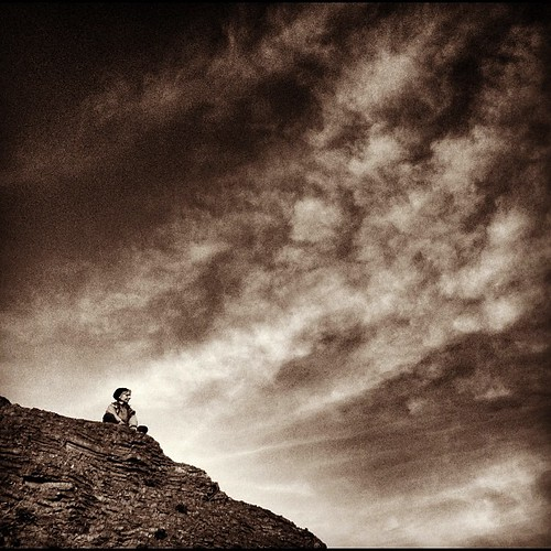 Meditating on the sunset   by Matthew Almon Roth
