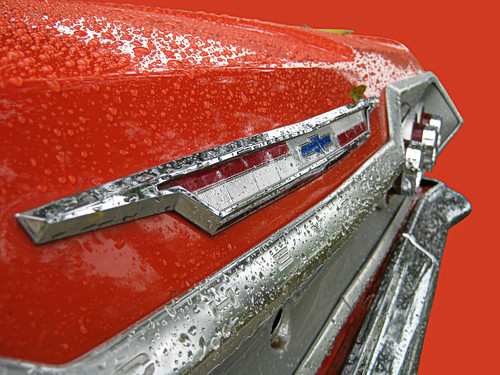 auto county christmas winter urban orange holiday classic chevrolet belair wet car rain sedan vintage cutout emblem season boot drops automobile gm december view graphic florida rear deck chevy chrome american lee trunk citrus southeast 2009 ftmyers villas lid 1963 fullsize generalmotors subdivision fortmyers 4door threequarter worldcars bbody
