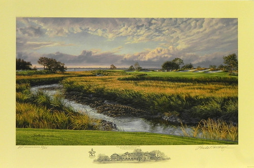 The 13th Hole, Seaside Course, Sea Island Golf Club, St. Simons Island, Georgia by Linda Hartough at Smith Galleries | by Smith Galleries