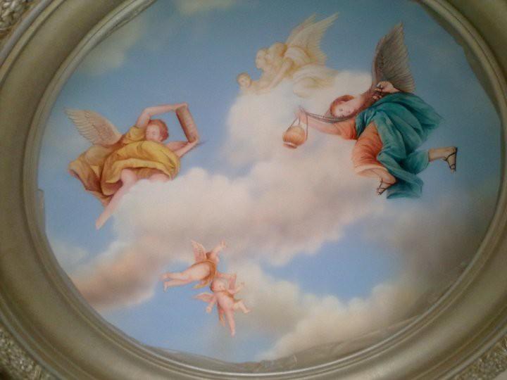 101 Gambar Lukisan Awan Di Plafon Paling Keren