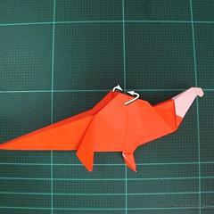 วิธีการพับกระดาษเป็นรูปไดโนเสาร์ (Origami Dinosaur) 028