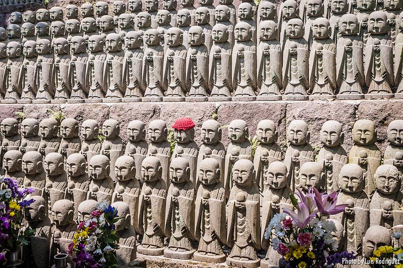 Jizos en el templo Hasedera de Kamakura