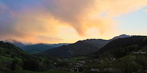 sunset mountains colors clouds germany bavaria berchtesgaden sonnenuntergang wolken berge koaxial p5074579a2p5074584aajpg
