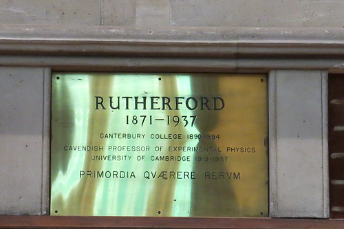 Rutherford plaque, Great Hall
