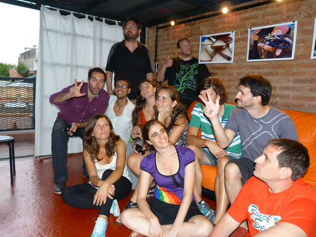 Con amigos en Buenos Aires (Argentina)