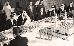 دعوة العشاء التي اقامها الملك فيصل رحمه الله - الرياض - 8 كانون الثاني 1954