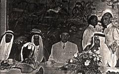 خلال أحد دعوات العشاء  الرسمية  - جده - 1954