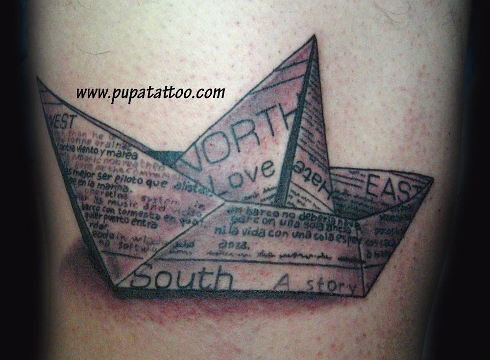 50 Mejor Tatuaje Barco De Papel Letrasparatatuajes Me