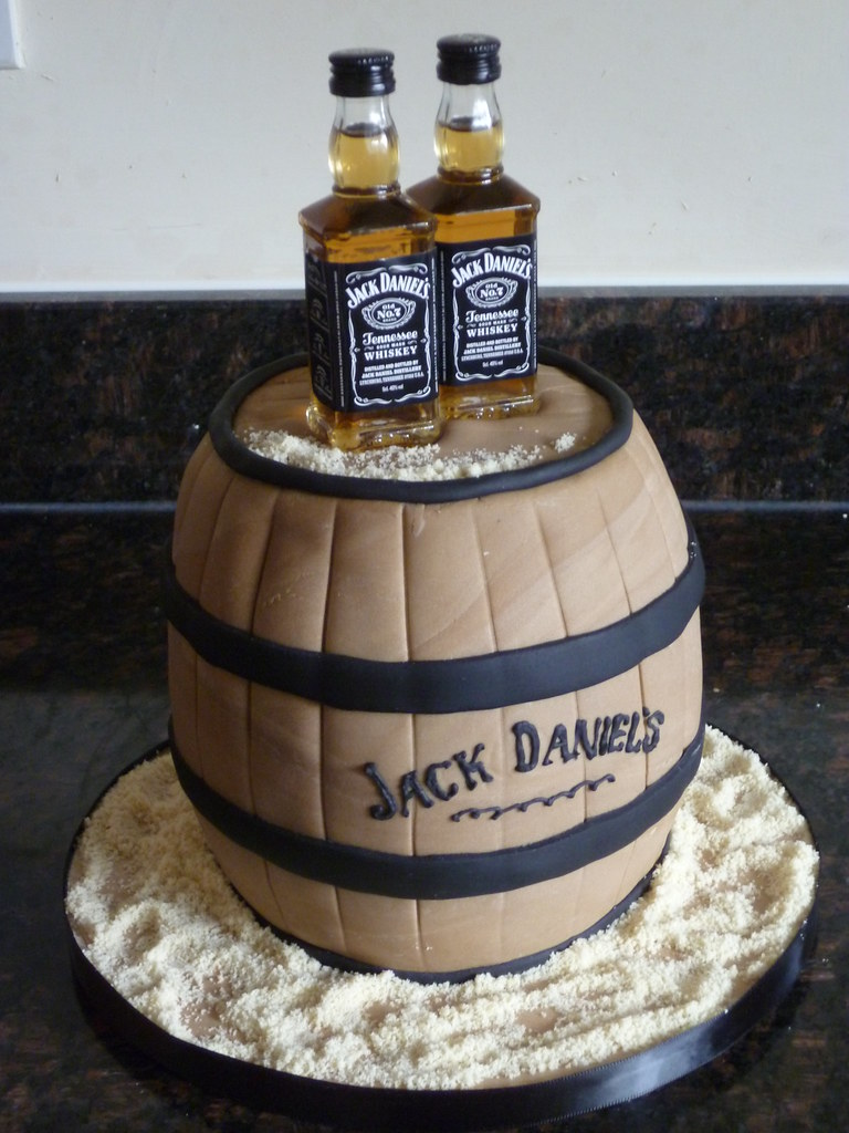 Fantastic Jack Daniels Cake March 2012 The Hardest Part About Doing Flickr Personalised Birthday Cards Sponlily Jamesorg