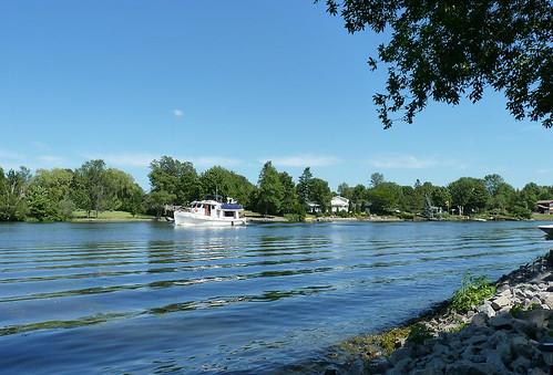Trawler cruising the Rideau River