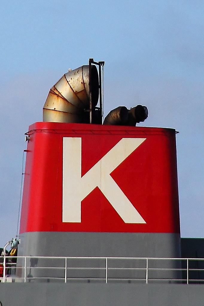 Kawasaki Kisen ( 'K' Line ) Japan    The Funnel of DELHI HIG