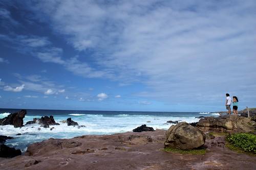 ocean sea sky beach nature clouds landscape hawaii seaside nikon rocks pacific bluewater bluesky maui pacificocean rockybeach paia hookipa 2470mm seawaves d810 nikond810 nikkor2470mm
