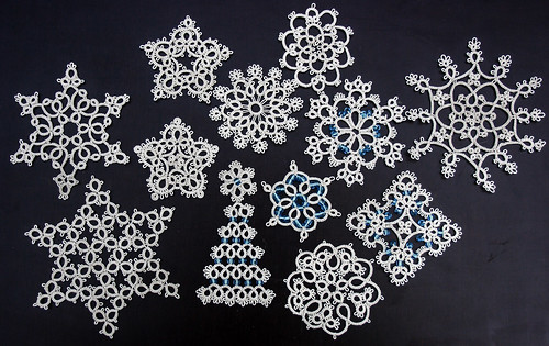 Tatted Snowflakes for the tree...