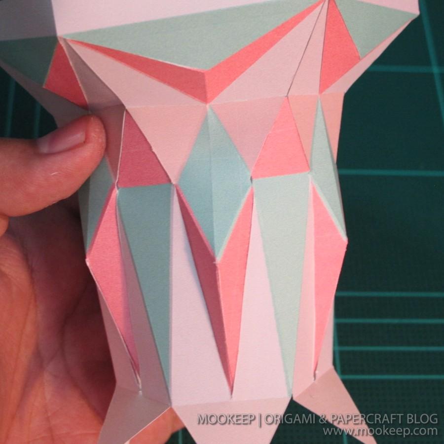 สอนทำโมเดลกระดาษเป้นรูปแจกันโบราณ (Papercraft Model Flower Vase) 016