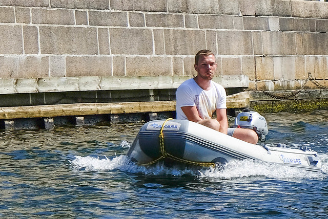 Sailing in Frederiks Canal Copenhagen