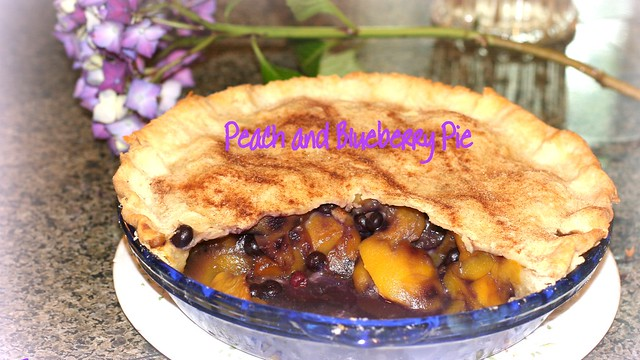 Who wants some homemade peach/blueberry pie?