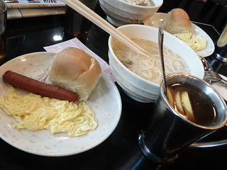 Usual breakfast in HK - mix between English and Chinese cultures   by Ju1ian